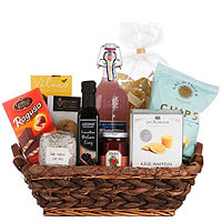 Pretty Fresh N Festive Culinary Gift Basket <br>