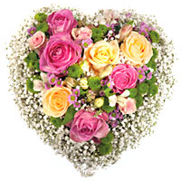 Sweet Hug Heart Shaped Flower Arrangement