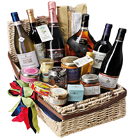 Adorable Happy Holiday Gourmet Gift Basket<br>