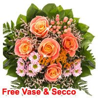 Classy Flower Fall Fantasy with Free Vase