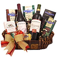 Dazzling  Hamper with Wine and More