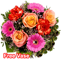 Stunning Floral Medley with Free Vase