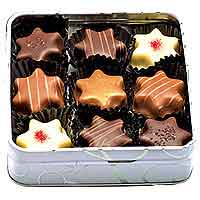 EILLES Sweet Christmas truffle pralines with gift tin