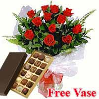 Roses With Chocolates to Germany