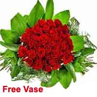 40 Premium Red Roses with Champagne bucket